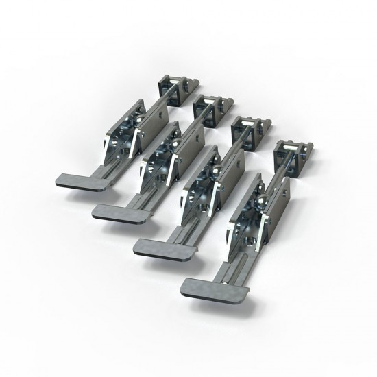 Kit of 4 pieces of membrane frame clamps for vacuum press