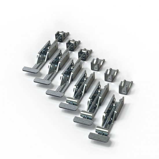 Kit of 6 pieces of membrane frame clamps for vacuum press
